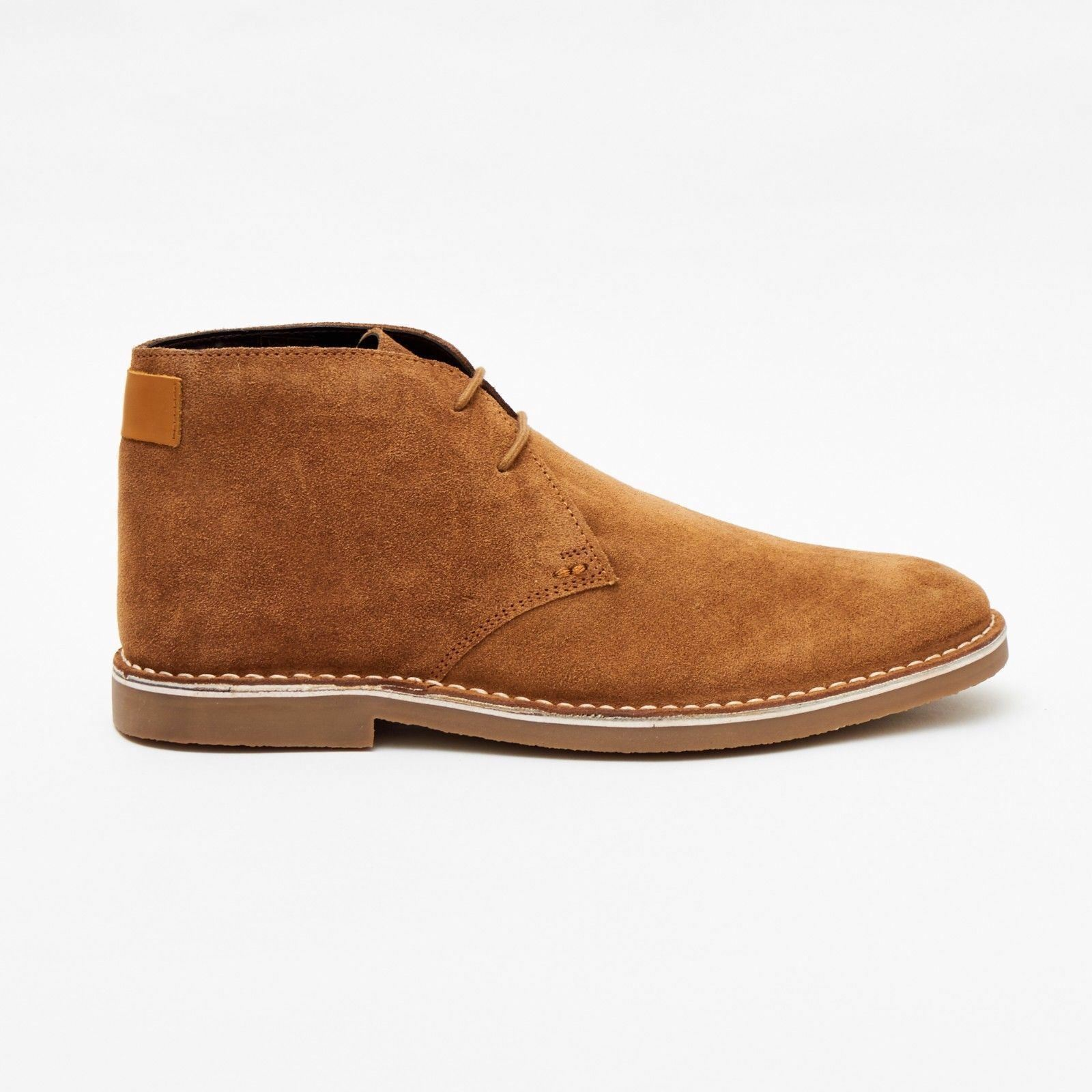 Lucini Men Braun Tan Suede Lace Up Stiefel Desert Chukka 2 Eyelet Stiefel Up Chisel Toe 8dbba6