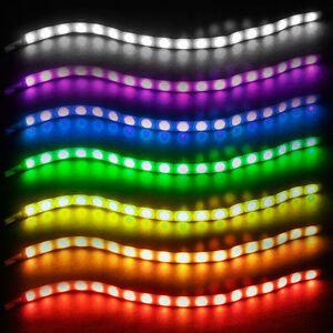 Silverstone sst ls02 18 rgb led flexible light strip 2 strips image is loading silverstone sst ls02 18 rgb led flexible light mozeypictures Gallery