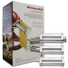 KitchenAid 3 Piece Pasta Roller & Cutter Attachment Set Silver - KSMPRA