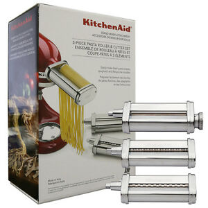 kitchenaid pasta maker kitchenaid 3 pasta roller amp cutter attachment set 10912