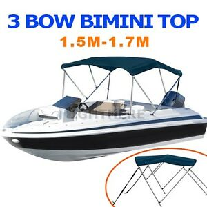 NEW-3-BOW-BOAT-BIMINI-TOP-1-5M-1-7M-WIDTH-1-3M-HEIGHT-CANOPY-COVER-NAVY-BLUE