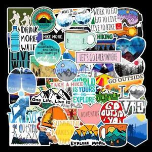 50-Pcs-Outdoor-Adventure-Hiking-Suitcase-Sticker-Skateboard-Notebook-DIY-Decals