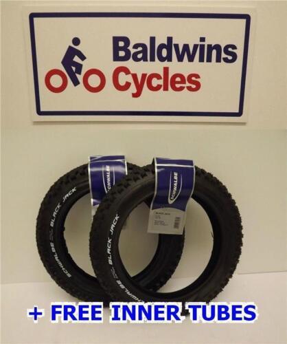 """TUBE GRATUIT 12 /""""x 1,90 schwalbe black jack d'emballages résistants landau pneus de vélo"""