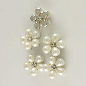 5-Klarglas-Strass-Versilbert-Legierung-Kuenstlich-Perlen-Knoepfe-Naehen-Handgemacht
