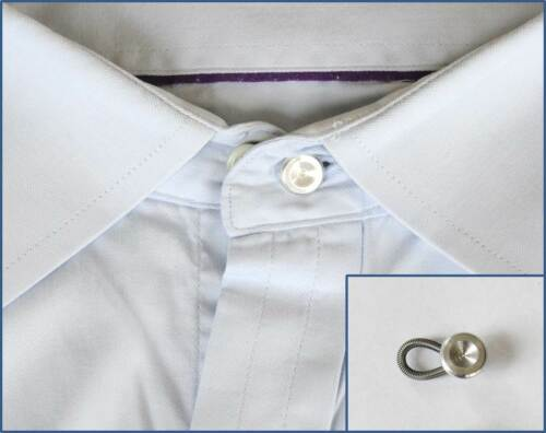 Metal Business Shirt Collar or Cuff Extenders Widens Expands Button Neck Size