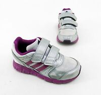 Adidas Ortholite Sneaker Halbschuhe Klettverschluss silber weiß lila Gr. 26