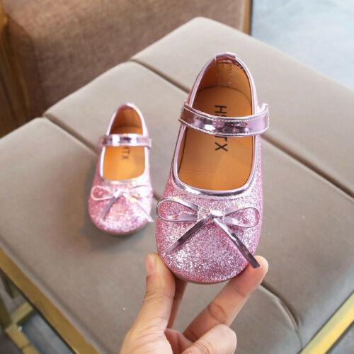Toddler Infant Kids Baby Girls Bling Sequins Single Dance Princess Shoes Sandals