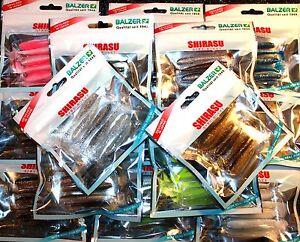 Balzer-Shirasu-Akiri-Worm-7cm-5-Stueck-15-Farben-Gummifisch-mit-Fischoel-Original