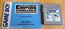 Star Wars El Imperio Contraataca PARA NINTENDO GAME BOY CARTUCHO + MANUAL ukv