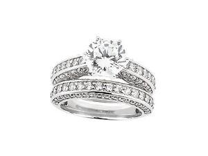 Natural-1-50ct-Anillo-de-Compromiso-Diamante-Corte-Princesa-Set-Solido
