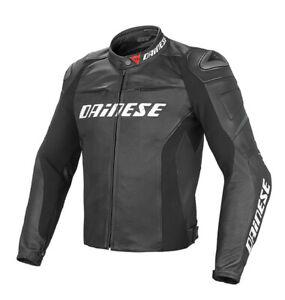 DAINESE-Lederjacke-Racing-D1-sportliche-Motorradjacke-schwarz-NEU