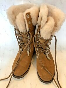 EMU-Australia-Tall-Suede-Lined-Winter-Boots-Size-F6-Women-H5-Men