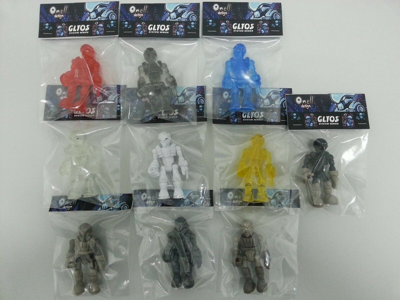 Onelldesign Glyos Glyos Glyos Exellis Lot Of 10 Action Figures 0e19bc
