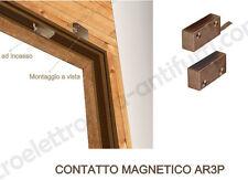 AR3P - Contatto magnetico in PVC per porte finestre, montaggio a vista o incasso