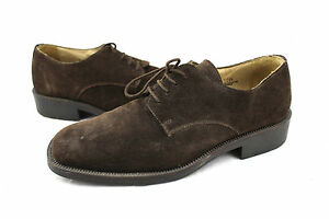 $200 ANTICA CUOIERIA Shoemaker's Italy Brown Suede Leather Oxford Shoes 12