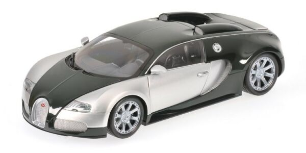 Bugatti VEYRON CENTENAIRE CHROME & Green 1:18 MODEL MINICHAMPS