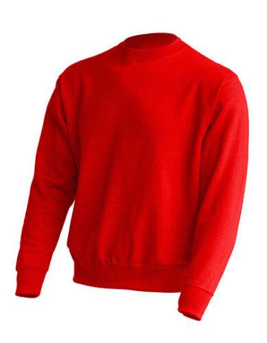Unisex Crew Neck Sweatshirt Pullover Rundhals Gr.XS-XXL in 20 Farben JHK320