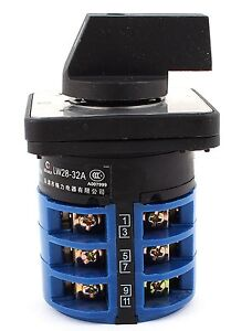 UI-660-ith-terminales-32A-12-1-0-2-3-Posiciones-De-Interruptor-rotativo-Cam-Cambio