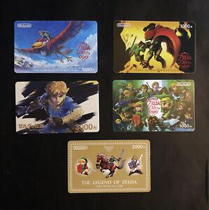 Nintendo The Legend Of Zelda Link eShop Prepaid Gift Cards Set (Used no value)