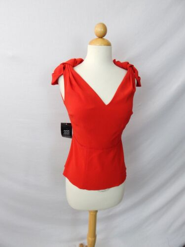 ETCETERA RED 2-pc SKIRT BLOUSE TOP SUIT OUTFIT SET sizes 0  2  8//10  NWT $450