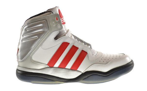 Adidas tech street metà scarpe da uomo corri bianco nero / rosso vivo / nero bianco g65890 bce85c