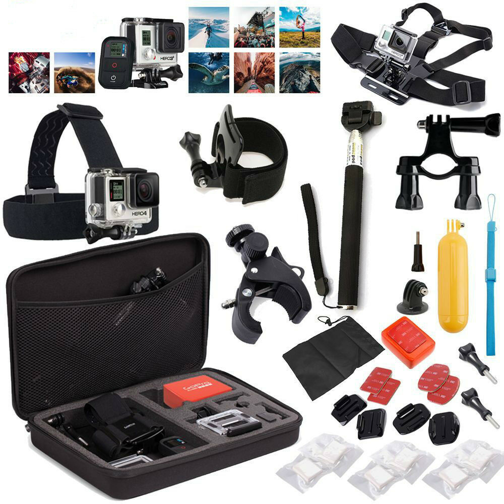 32 in1 Head Chest Mount Monopod Accessories Kit for GoPro Hero 2 3 4 5 Camera