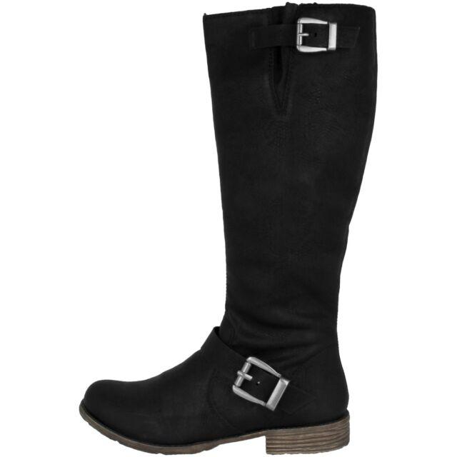Rieker Eagle Women Boots Antistress Women's Shoes Winter Boots Black 74787 00