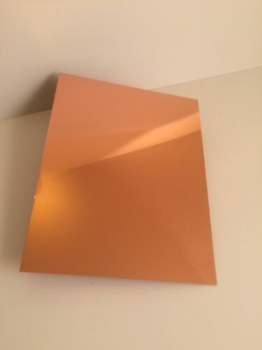 "Copper Sheet Metal 230 Alloy 24 Gauge Bright Polish 8.5/""X11/"""