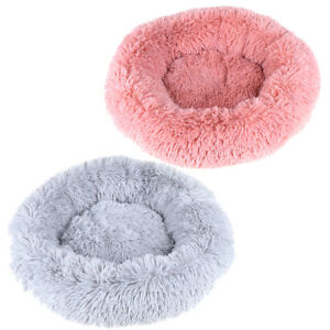 Pet-Dog-Cat-Calming-Bed-Round-Nest-Warm-Soft-PlUKh-Comfortable-Sleeping-Nest-JT