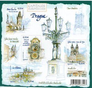 BLOC-FEUILLET-N-126-NEUF-XX-FRAICHEUR-POSTALE-PRAGUE-CAPITALE-EUROPEENNE