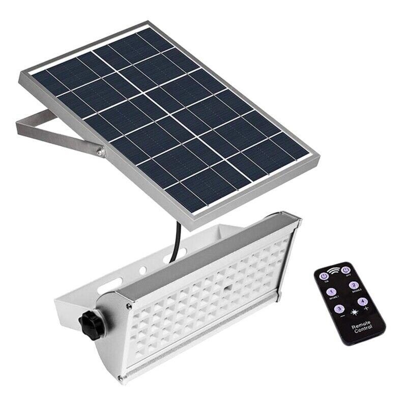 65 LEDs Luz Solar Spotlight 1500Lm 12W Control Remoto Exterior Impermeable P6C6