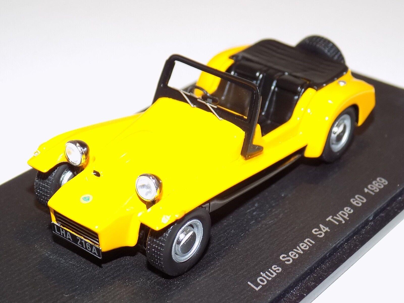 1 43 Spark Lotus Seven S4 de 1969 de la calle en giallo S2185