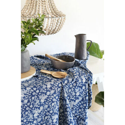 NEW Indigo Floral Tablecloth (180x275cm) - preorders open