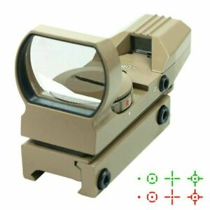 Tactical-Holographic-Reflex-Sight-Red-Green-4-Reticles-with-Rail-Mount-Tan