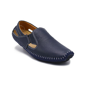 Mens-Casual-Slip-On-Loafers-Summer-Fashion-Sandals-Breathable-Leather-Flat-Shoes