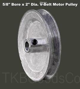 "Motor Pulley 1//2/"" Bore x 5/"" Dia for V-Belt Die Cast Zinc Alloy w// Set Screw"