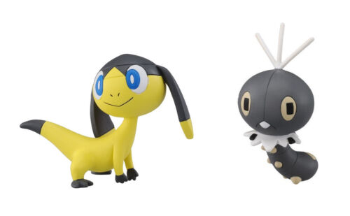 Pokemon Figures REAL  Set of 2 MC-016 Scatterbug /& MC-008 Helioptile