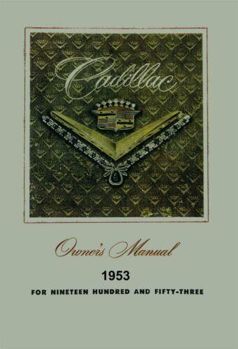 Bishko OEM Maintenance Owner/'s Manual Bound for Cadillac All Models 1953