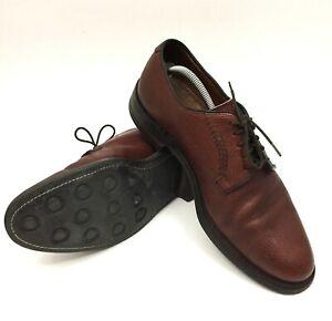 Cole-Haan-Mens-Burgundy-Sz-10-5-US-Dainite-Sole-Derby-Pebbled-Leather-Shoes