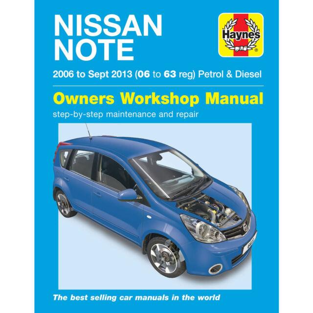 Nissan Note Haynes Manual  2006-Sep 13 1.4 1.6 Petrol 1.5 Diesel Workshop