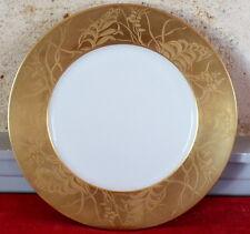JL Coquet Khazard gold Limoges France assiette dessert décor or 24 carats