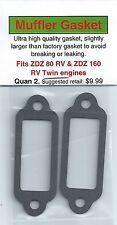 ZDZ 80 RV & ZDZ 160 RV Twin Exhaust/Muffler Gasket 2 Pack NIP
