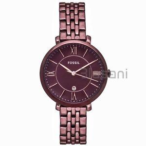 Fossil-Original-ES4100-Women-039-s-Jacqueline-Wine-Stainless-Steel-Watch-36mm