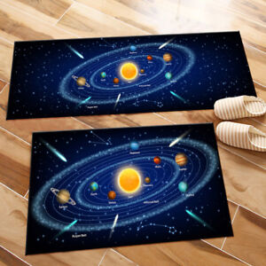 Sun and Eight Solar System Planets Area Rugs Bedroom Rug Living Room Floor Mat