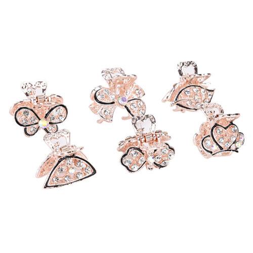 Mini Crystal Strass Schmetterling Haargreifer Kiefer Clip Clamp  sp