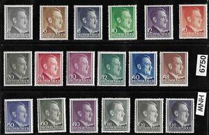 #6750     MNH stamp set General Government Poland Germany WWII Adolf Hitler