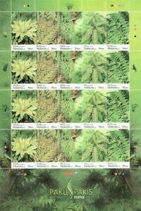SJ-Fern-Of-Malaysia-2010-Flower-Plant-Flora-sheetlet-MNH