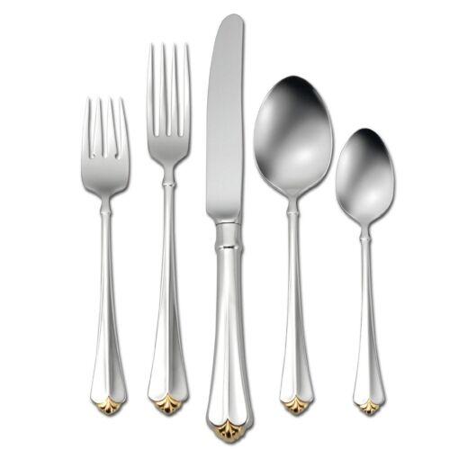 Service for 1 Oneida Golden Juilliard 5 Piece Fine Flatware Set