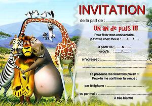 5 ou 12 cartes invitation anniversaire ANIMAL ANIMAUX réf 273   eBay