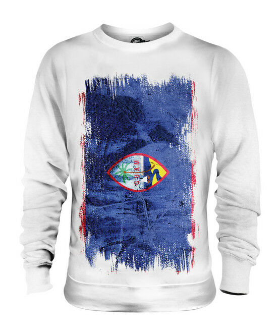 GUAM GRUNGE FLAG UNISEX SWEATER TOP GUÅHÅN GUAMBAT GUAMANIAN SHIRT FOOTBALL